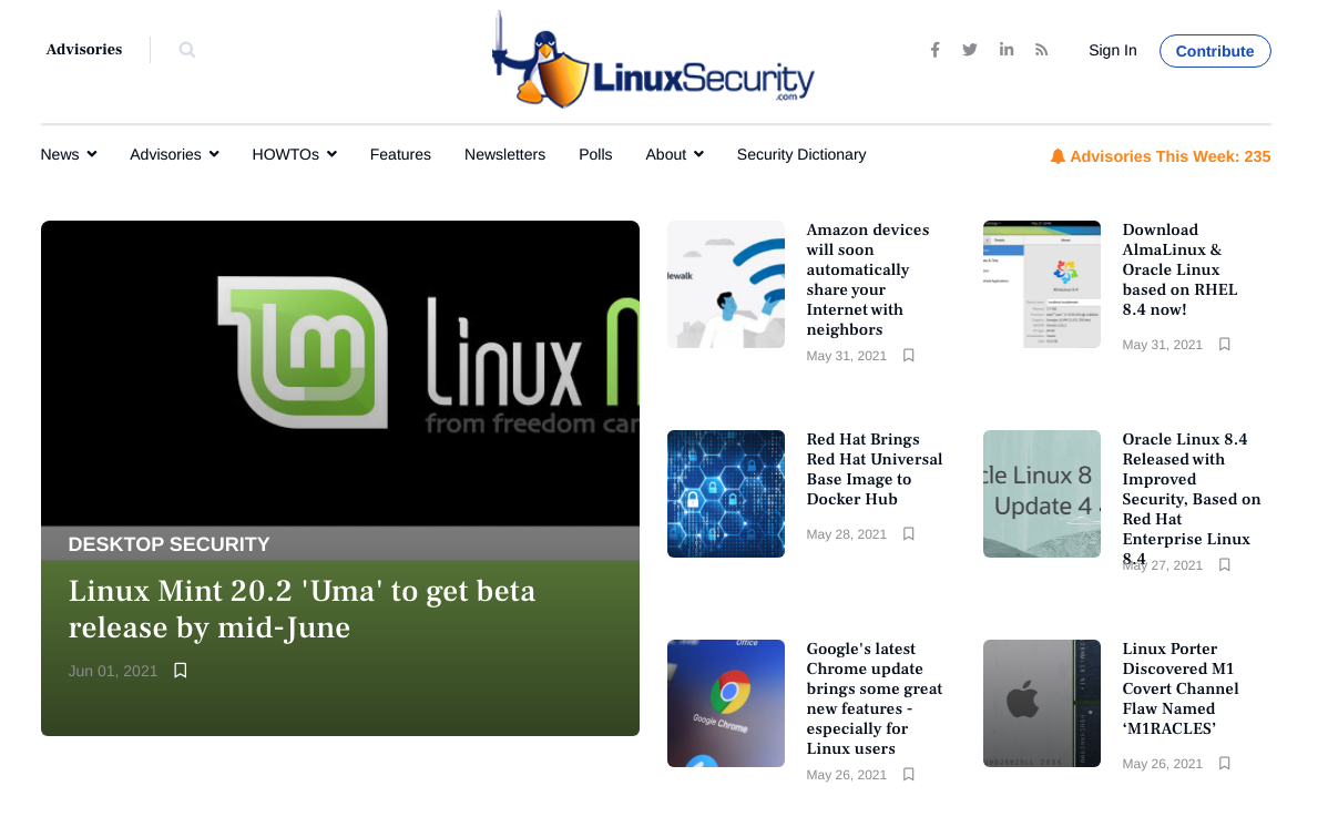 Linux Security New website