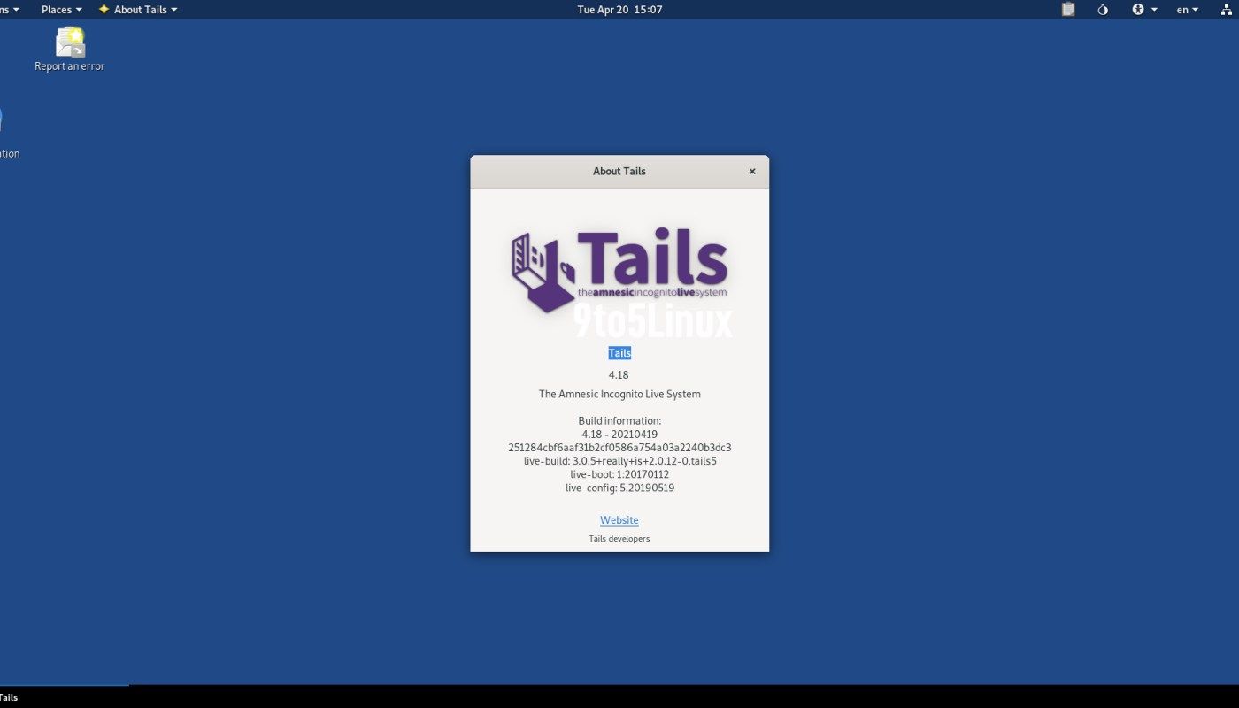 Tails 4.18 Anonymous OS Released with Tor Browser 10.0.16, Updated Intel Firmware